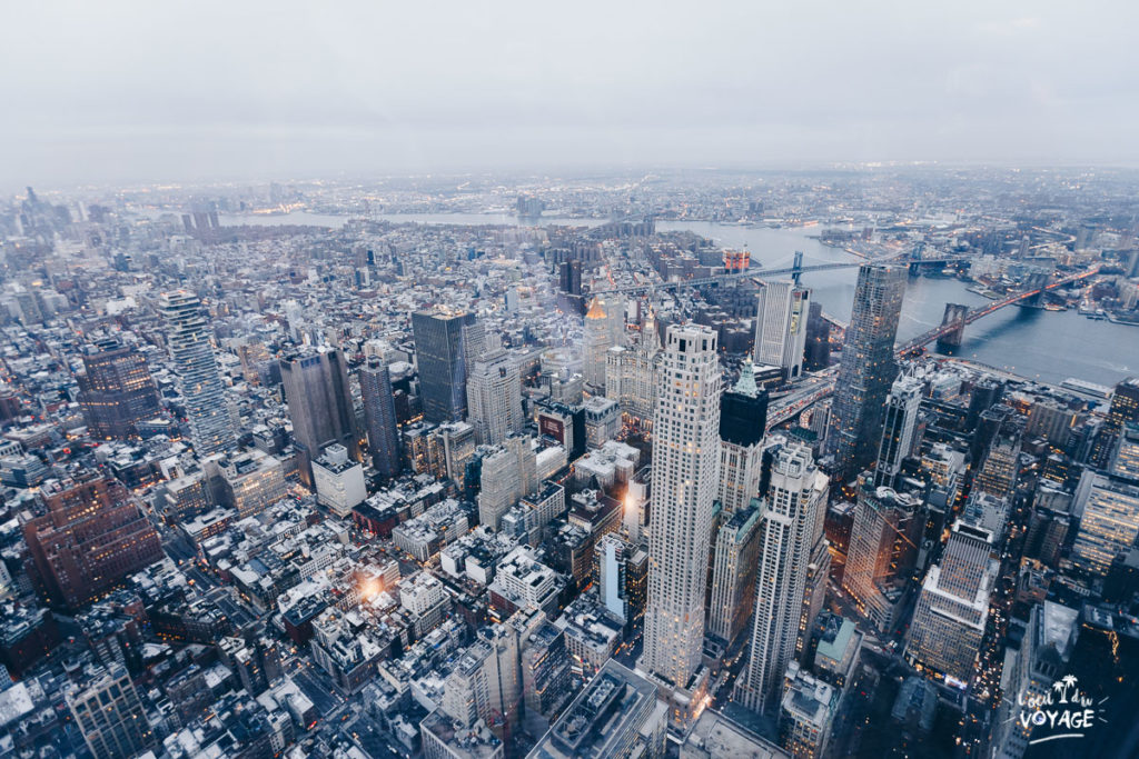 bon plan voyage new york, one world observatory, vue sur manhattan, L'oeil du Voyage blog photo
