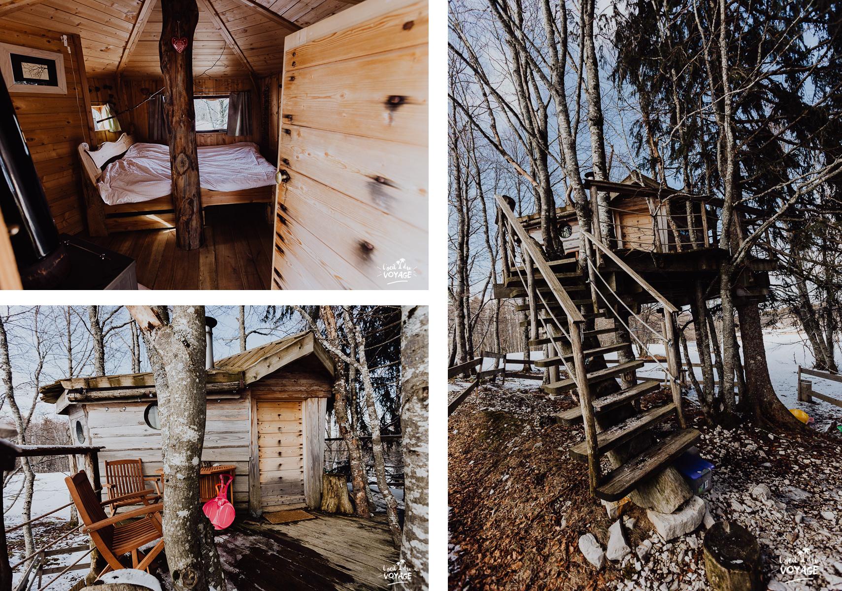 cabane perchée loges du Coinchet la pesse, L'oeil du voyage travel blog