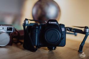 quel matériel pour vlog voyage, avec quoi faire les photos en voyage, canon eos 6D