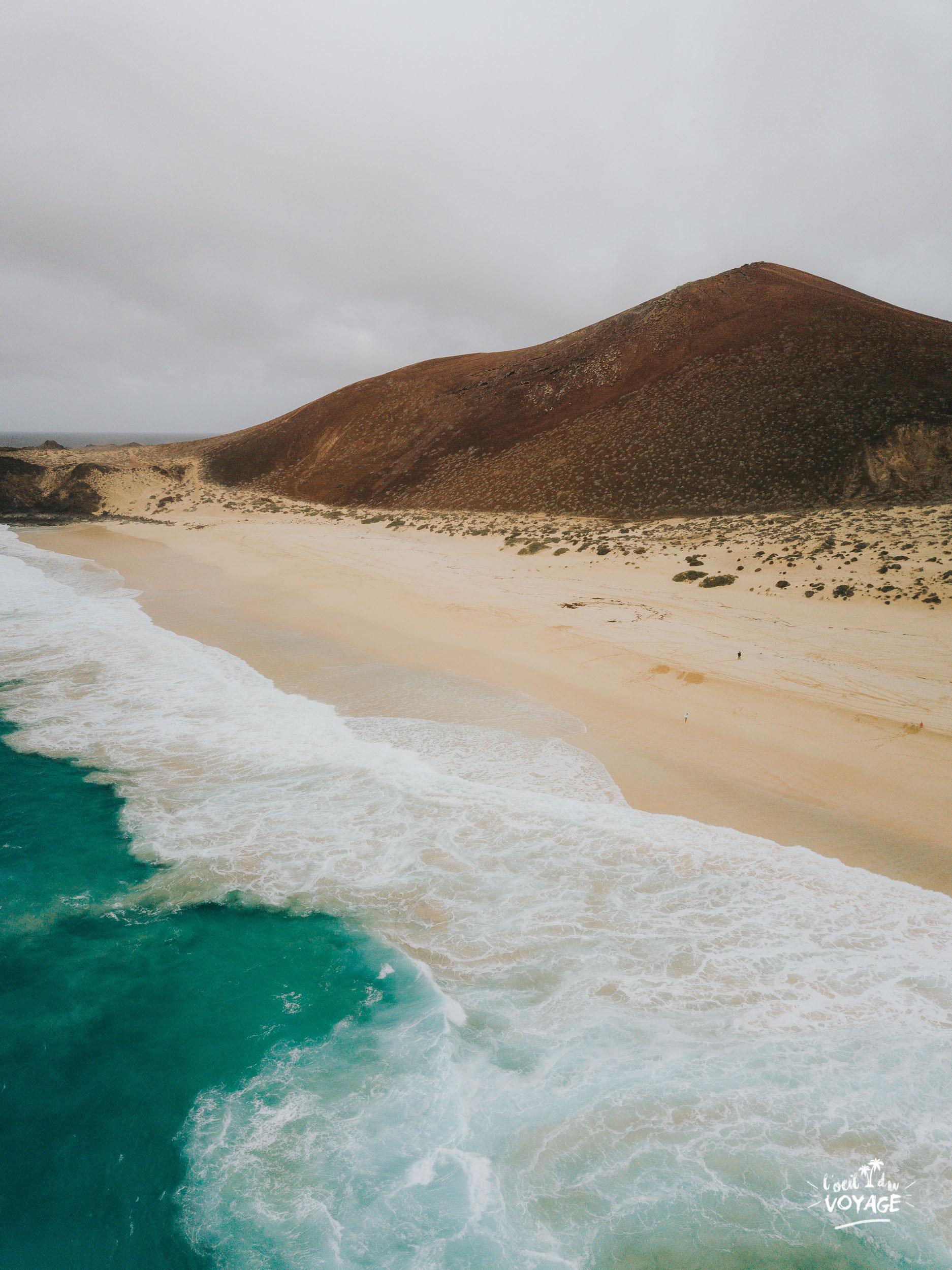 voyage lanzarote blog, inspiration vacances noël, photo drone île de la Graciosa