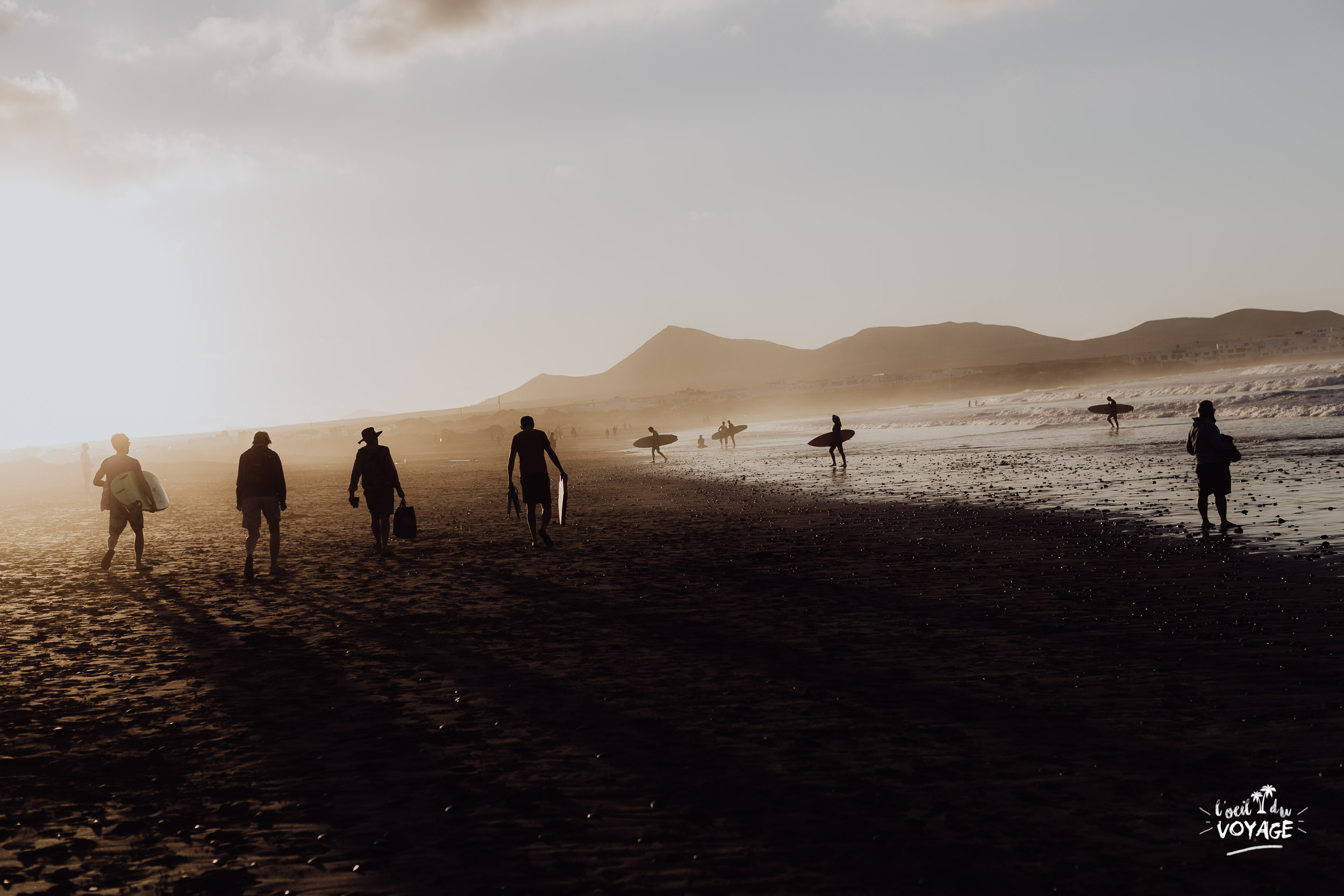 blog voyage canaries, lanzarote. Playa de Famara.