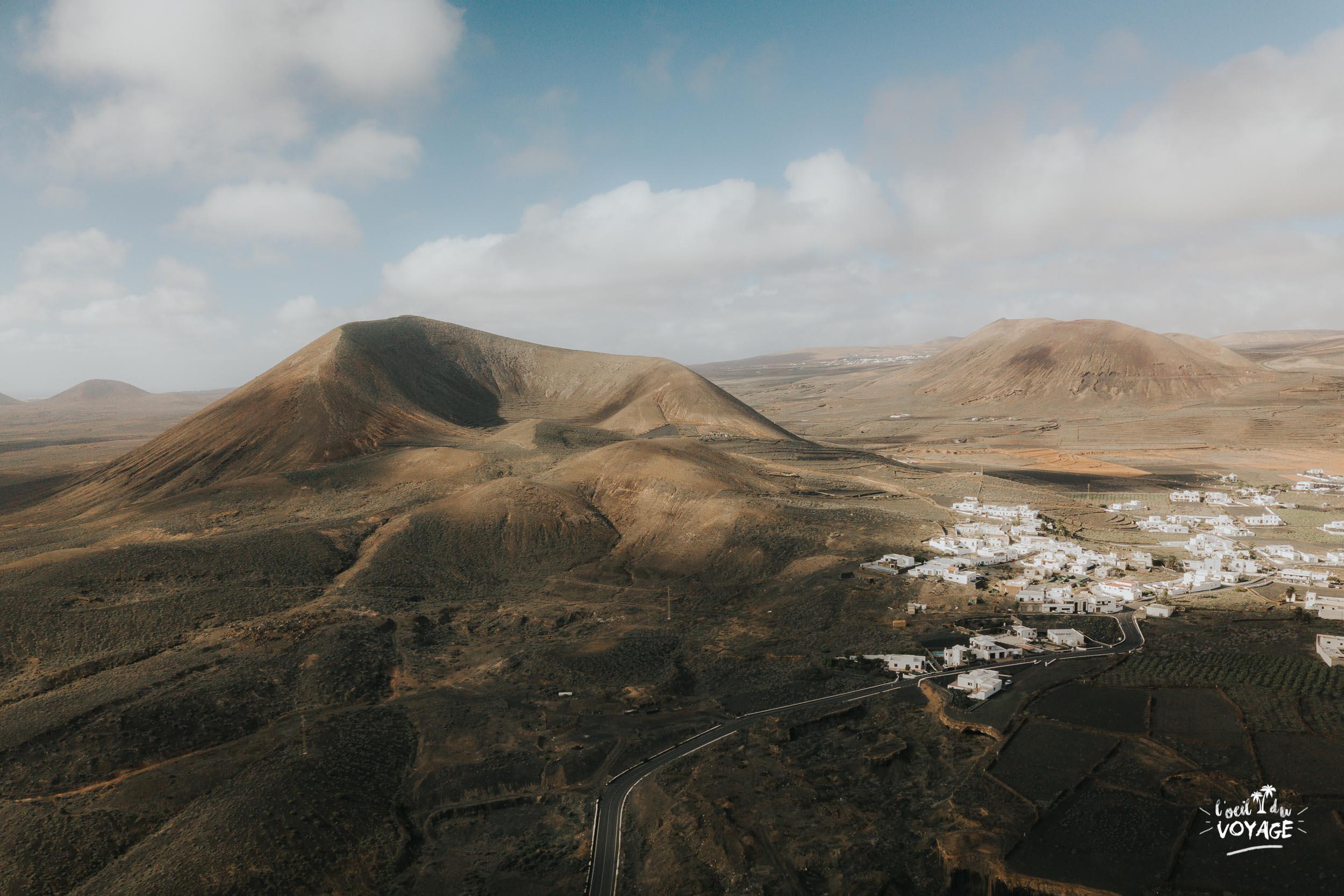 blog voyage Lanzarote, visiter Guatiza, photo drone lanzarote