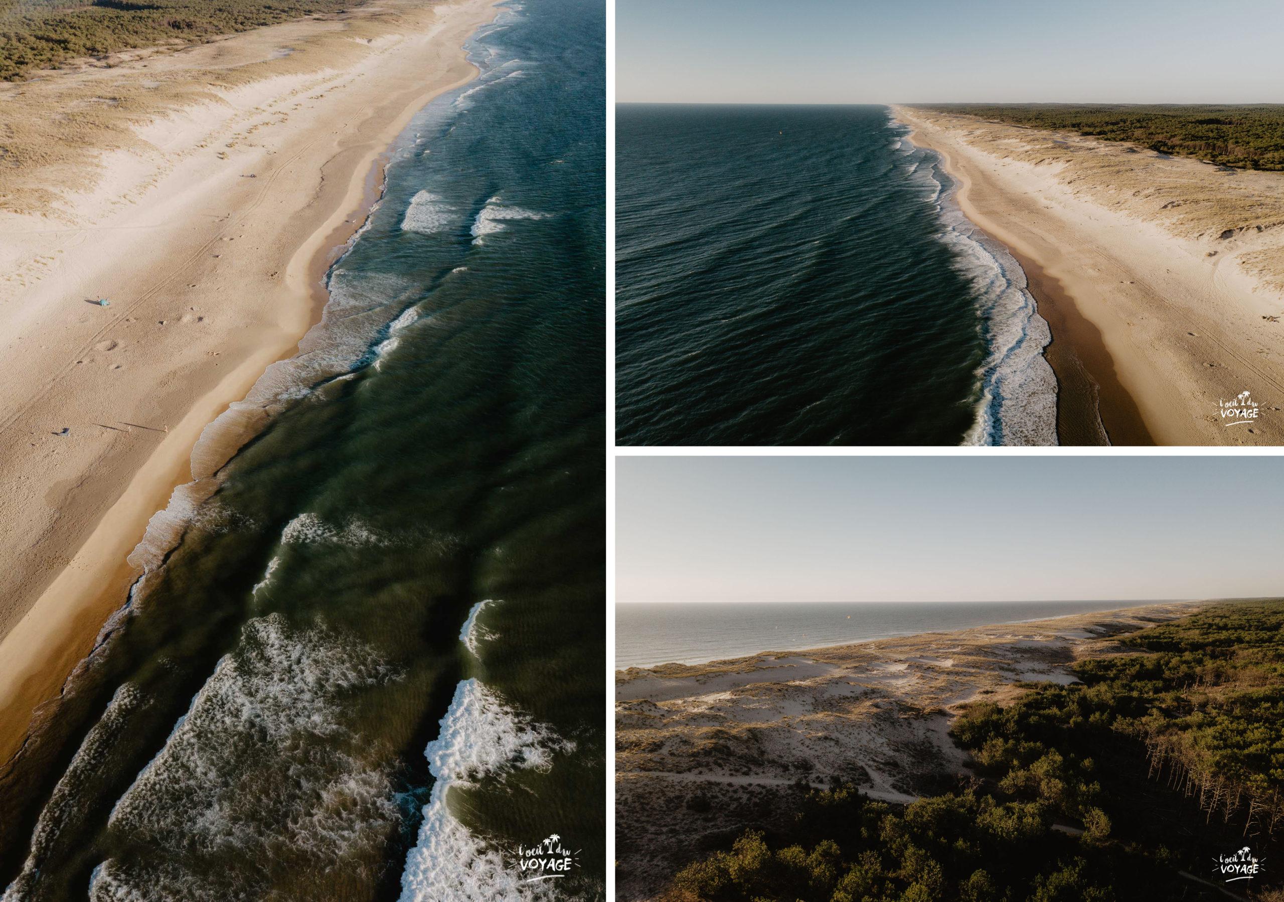 belle photo drone le porge océan, cet été je visite la France, destination Médoc, tourisme Nouvelle Aquitaine par L'oeil du Voyage, blog voyage